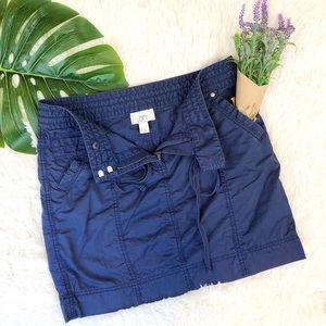 Ann Taylor LOFT | Blue Utility Pencil Skirt, sz 6